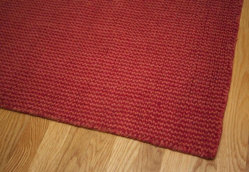 Crossweave Red/Orange Loom-Hooked