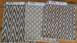 Natural Undyed Wool Thick Woven Rug Swatches