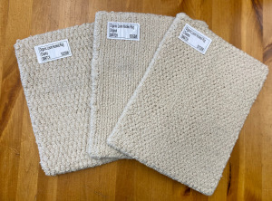 Organic Cotton Loom-Hooked swatches